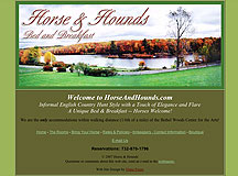 Horse & Hounds Bed & Breakfast Web Site